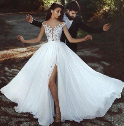 50 Bridal Dresses with Perfect Split Ideas 24