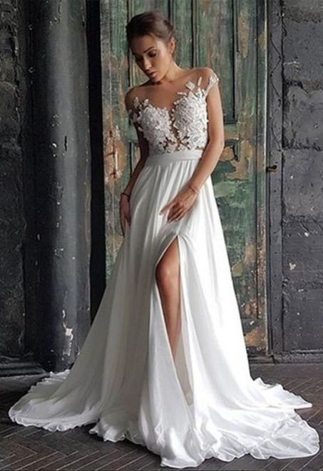 50 Bridal Dresses with Perfect Split Ideas 3 1