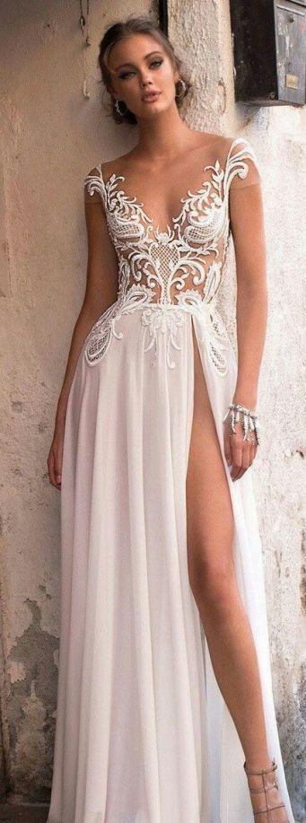50 Bridal Dresses with Perfect Split Ideas 47 1