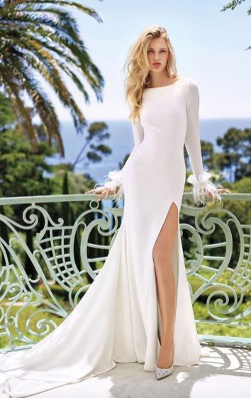 50 Bridal Dresses with Perfect Split Ideas 5 1