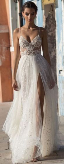 50 Bridal Dresses with Perfect Split Ideas 7 1