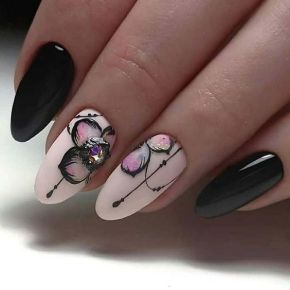 50 Floral Nail Art for Summer and Spring Ideas 25