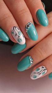 50 Floral Nail Art for Summer and Spring Ideas 27