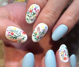 50 Floral Nail Art for Summer and Spring Ideas 3