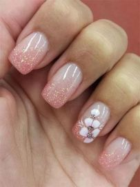 50 Floral Nail Art for Summer and Spring Ideas 31