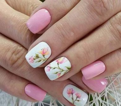 50 Floral Nail Art for Summer and Spring Ideas 36