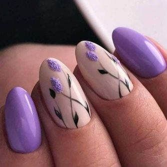 50 Floral Nail Art for Summer and Spring Ideas 41