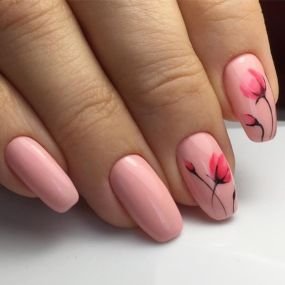 50 Floral Nail Art for Summer and Spring Ideas 42