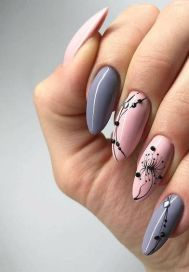 50 Floral Nail Art for Summer and Spring Ideas 45