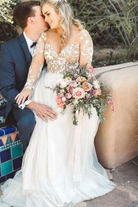 50 V Neck Bridal Dresses for Plus Size Ideas 15