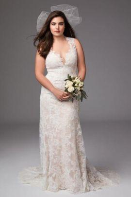 50 V Neck Bridal Dresses for Plus Size Ideas 16
