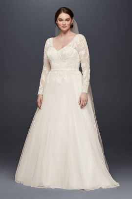 50 V Neck Bridal Dresses for Plus Size Ideas 18
