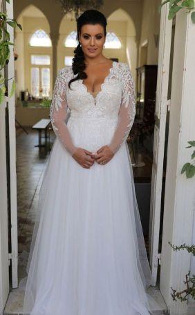 50 V Neck Bridal Dresses for Plus Size Ideas 20