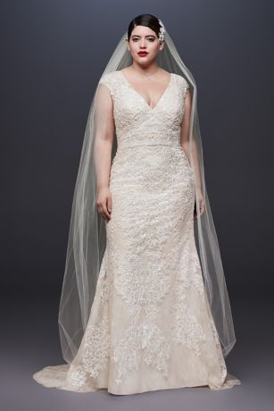 50 V Neck Bridal Dresses for Plus Size Ideas 24