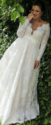 50 V Neck Bridal Dresses for Plus Size Ideas 34