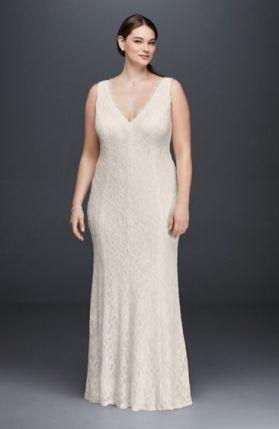 50 V Neck Bridal Dresses for Plus Size Ideas 36