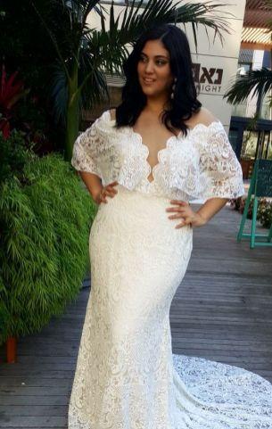50 V Neck Bridal Dresses for Plus Size Ideas 4