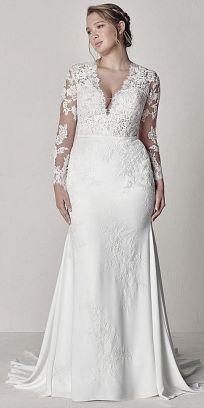 50 V Neck Bridal Dresses for Plus Size Ideas 41