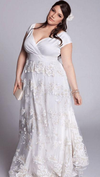 50 V Neck Bridal Dresses for Plus Size Ideas 45