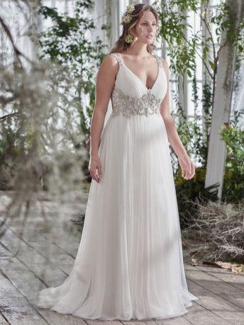 50 V Neck Bridal Dresses for Plus Size Ideas 46