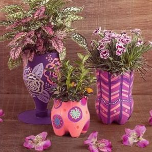 50 Ways to Reuse Plastic Bottles to Cute Planters Ideas 1