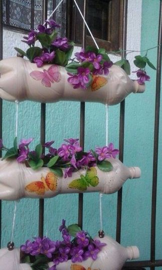 50 Ways to Reuse Plastic Bottles to Cute Planters Ideas 18