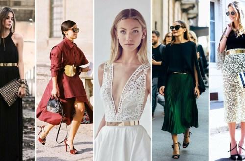 50 Ways to Wear Gold Belts Ideas