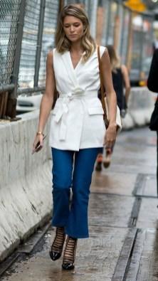 50 Ways to Wear White Sleeveless Top Ideas 24