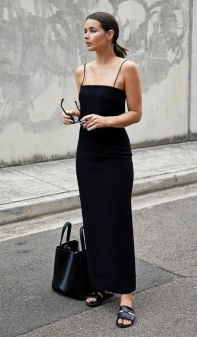 60 Spring and Summer All Black Outfits Ideas 17