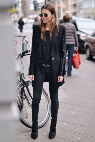 60 Spring and Summer All Black Outfits Ideas 26