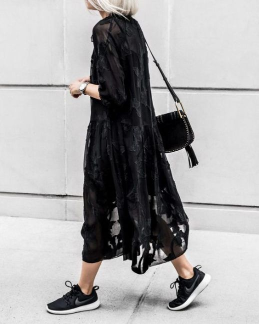 60 Spring and Summer All Black Outfits Ideas 35
