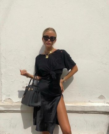 60 Spring and Summer All Black Outfits Ideas 59