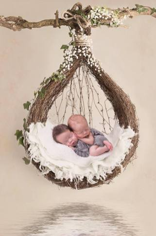 100 Cute Twins New Born Photography You Can Copy 23