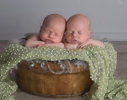 100 Cute Twins New Born Photography You Can Copy 54