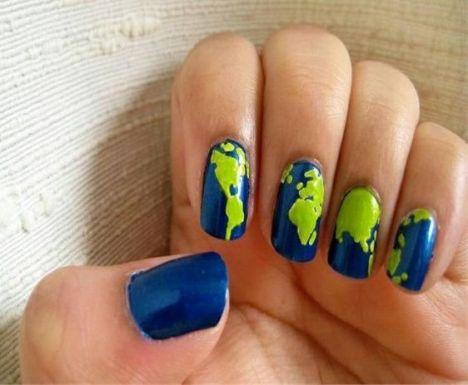 30 Earth Day Nails Art Ideas 15
