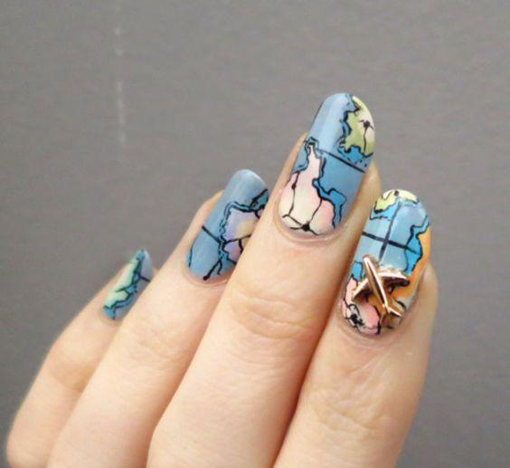 30 Earth Day Nails Art Ideas 2 1