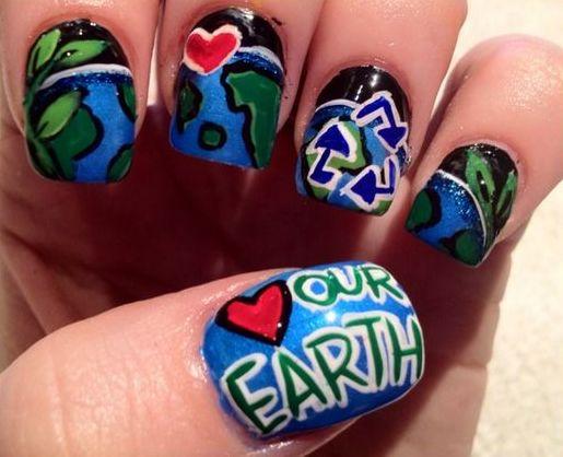 30 Earth Day Nails Art Ideas 20 1