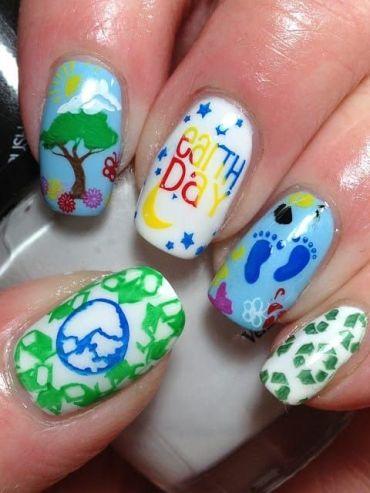 30 Earth Day Nails Art Ideas 21 1