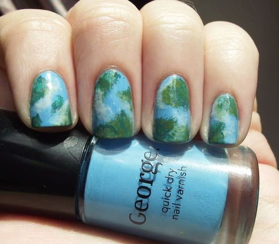 30 Earth Day Nails Art Ideas 32 2