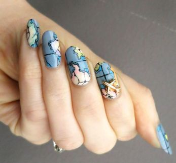 30 Earth Day Nails Art Ideas 9