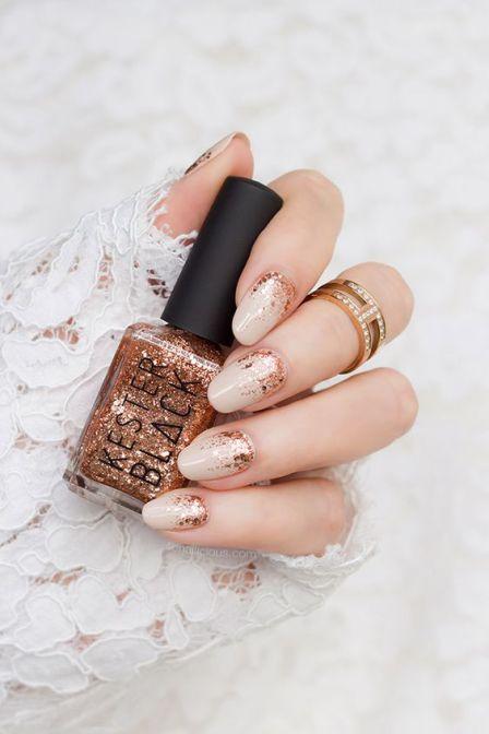 30 Glam Wedding Nail Art for Bride Ideas 10