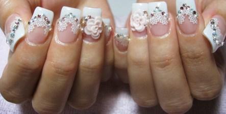 30 Glam Wedding Nail Art for Bride Ideas 12