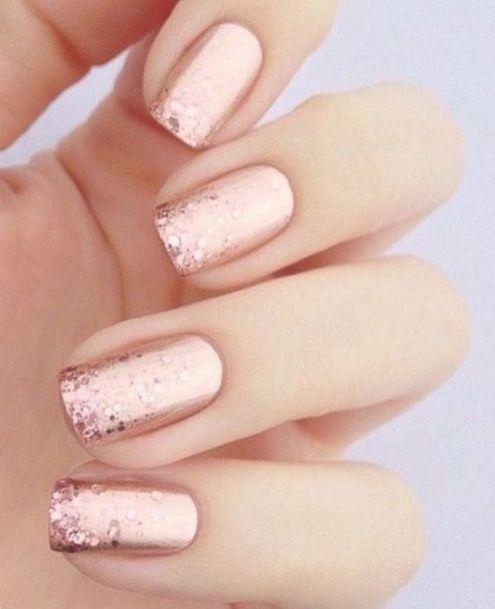 30 Glam Wedding Nail Art for Bride Ideas 14