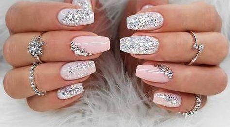 30 Glam Wedding Nail Art for Bride Ideas 2