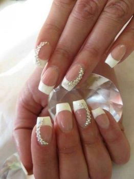 30 Glam Wedding Nail Art for Bride Ideas 22