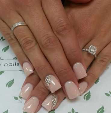 30 Glam Wedding Nail Art for Bride Ideas 23