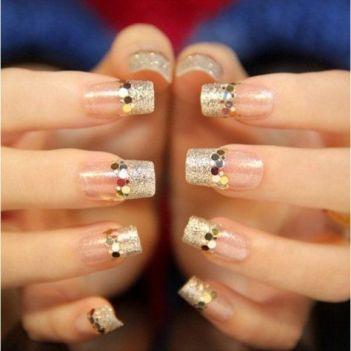 30 Glam Wedding Nail Art for Bride Ideas 26