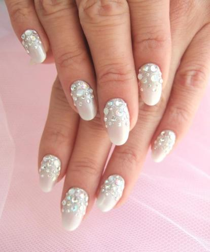 30 Glam Wedding Nail Art for Bride Ideas 30