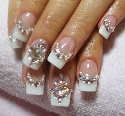 30 Glam Wedding Nail Art for Bride Ideas 32
