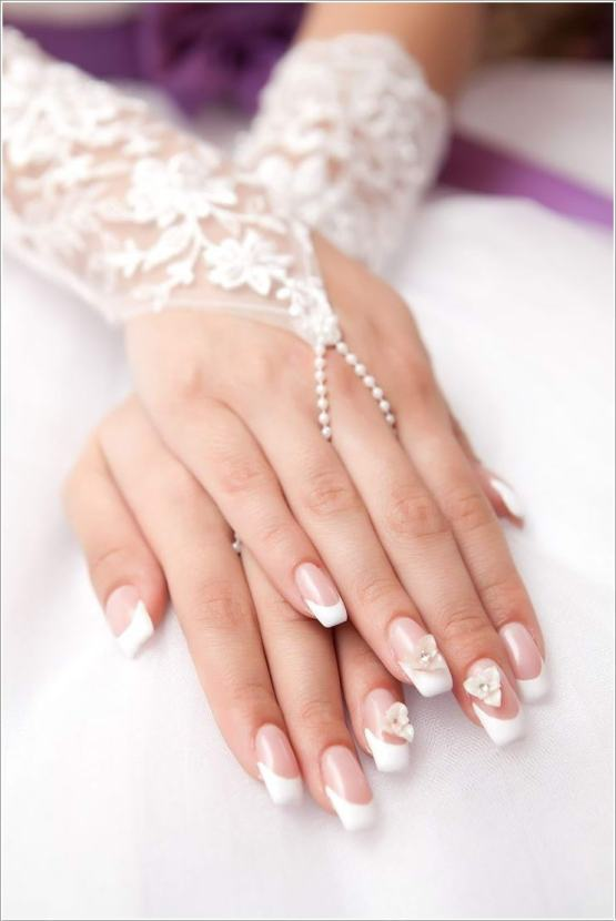 30 Glam Wedding Nail Art for Bride Ideas 4